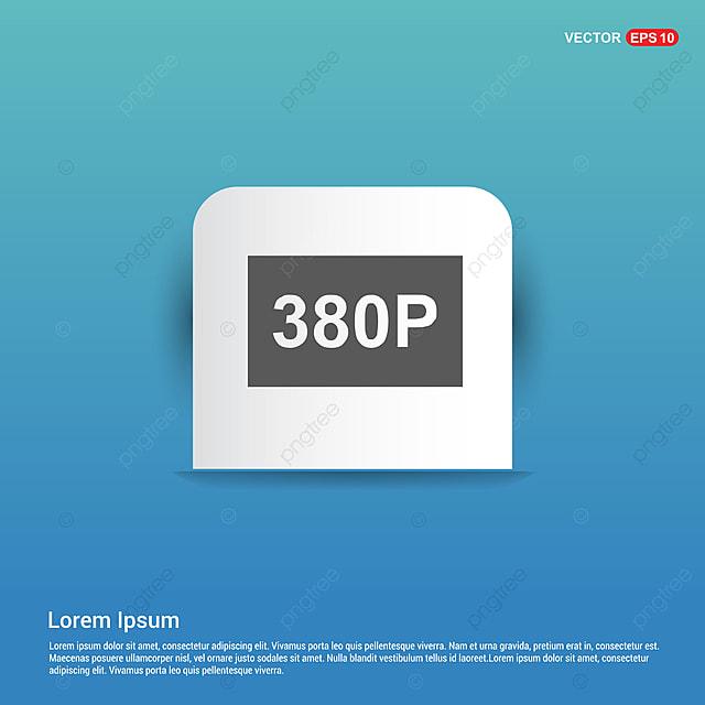Video Resolution Icon Blue Sticker Button, 4k, Computer
