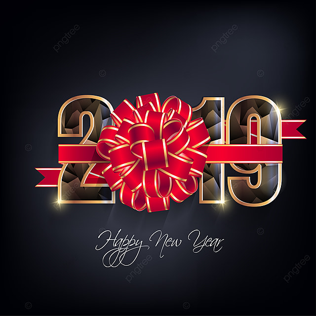 Happy New Year 2019 White Wallpaper PNG And Vector