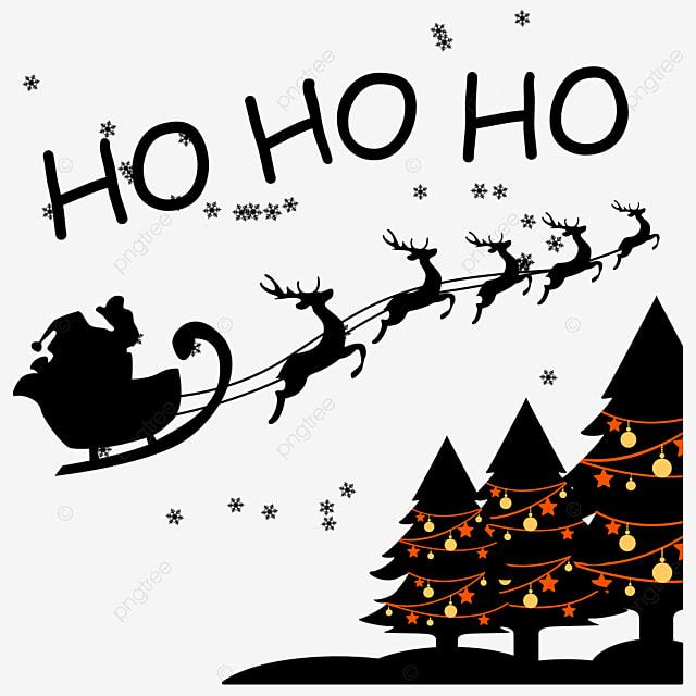 Illustration Vectorielle De Noel Avec Le Pere Noel Dit Ho Ho Ho Santa Clipart Noel Joyeux Png Et Vecteur Pour Telechargement Gratuit