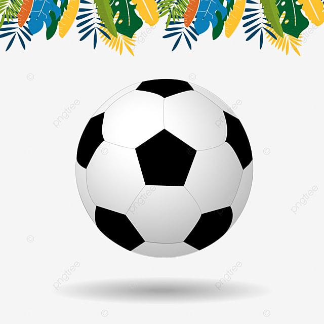 0f739226070aa Brasil balon de futbol con el color de fondo de flor tropical en Brasil  Gratis PNG y Vector