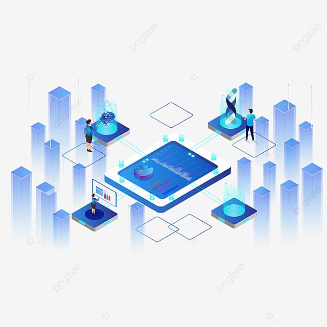 2 5d blue inter  technology illustration technology