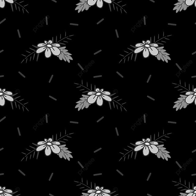 Fleurs Isolées Vecteur Sur Fond Noir Prêt Pour Imprimer