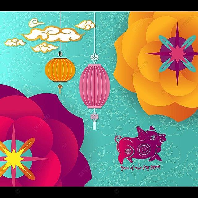 Le Nouvel An Chinois Affiche Annee Du Cochon Decoration 2019 Cochon