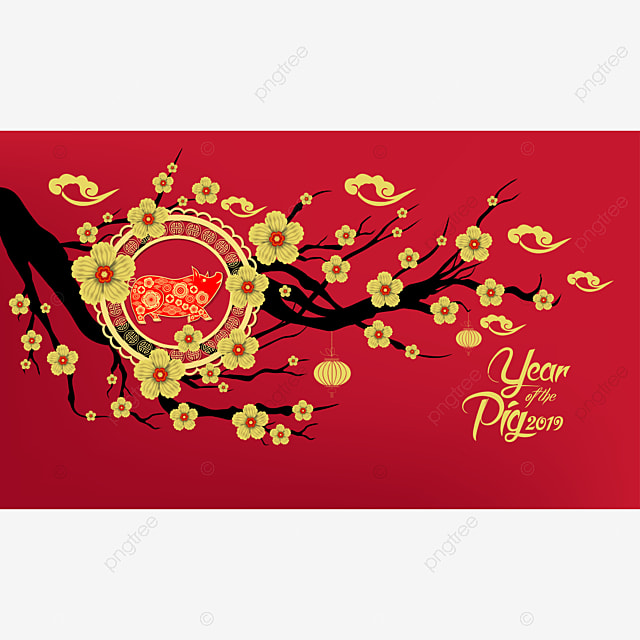 Happy Chinese New Year 2019 Year Of The Pig Paper Cut