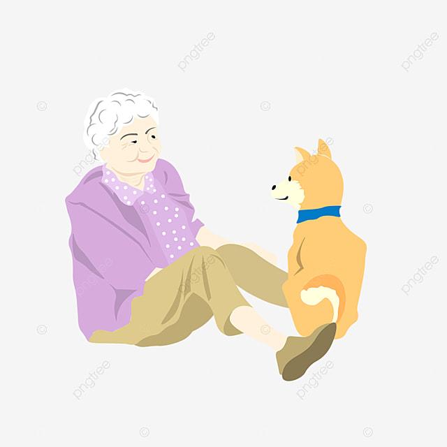 犬のイラストと手漫画漫画老人 秋田 日本 志沢画像素材の無料