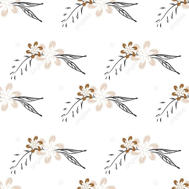 Schema Homogene Botanique Vecteur Floral Dessine A La Main Des