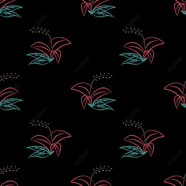 Main Modèle Thème Floral Sans Illustration Vectorielle