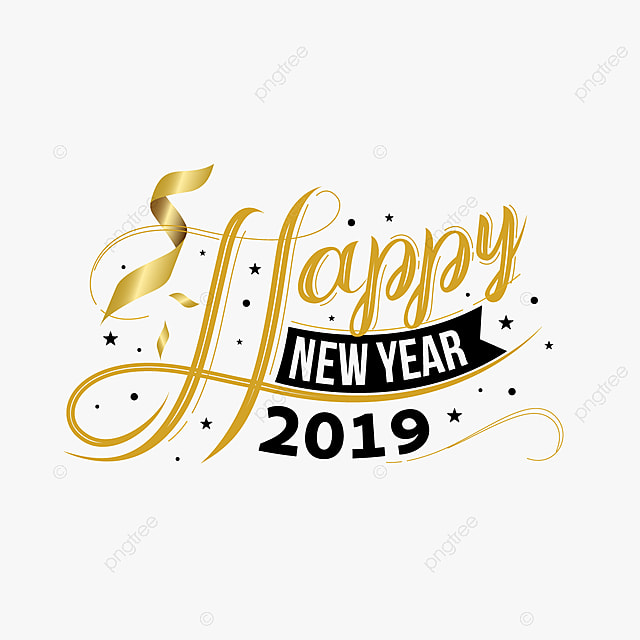 happy new year 2019 greeting card with trendy background illustration vector new year