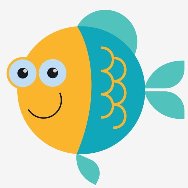 Fish, Fish, Blue, Smile PNG And Vector With Transparent