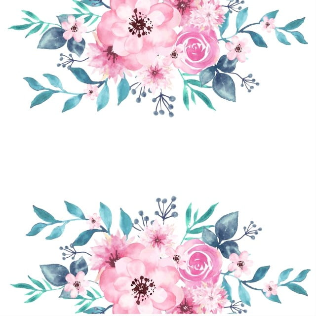 Watercolor Floral Background Peony Spring Transparent Png And
