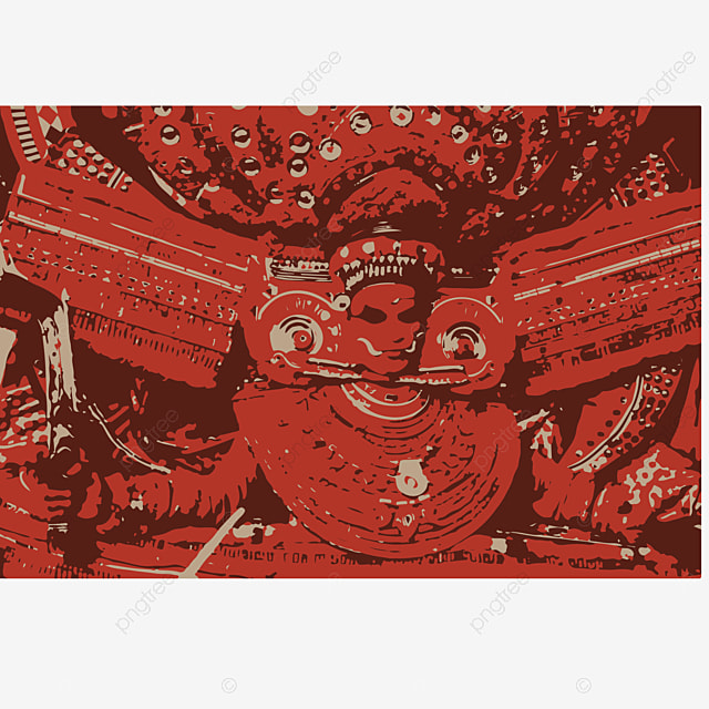 Kerala Traditional Temple Art Form Theyyam Represent Of Hindu God S God Gods Ditys Png And Vector With Transparent Background For Free Download