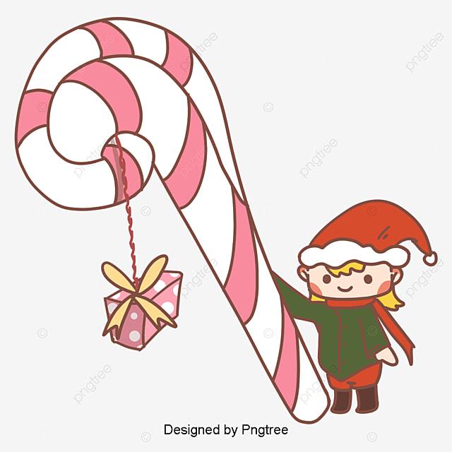 クリスマスプレゼントテーマ韓国風手描きイラストキャラクター 簡素な