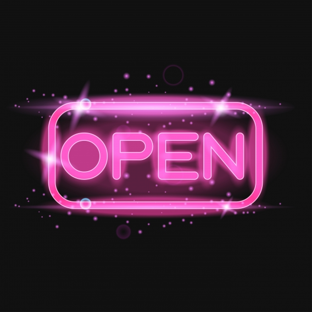 Pink Neon Light Glowing Sign Open, Pink, Neon, Close PNG ...