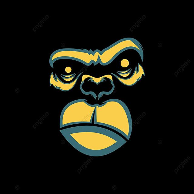Gorila Cara De Diseño De Camisetas Camiseta De Diseño Línea Miedo ... e86dd58241c28