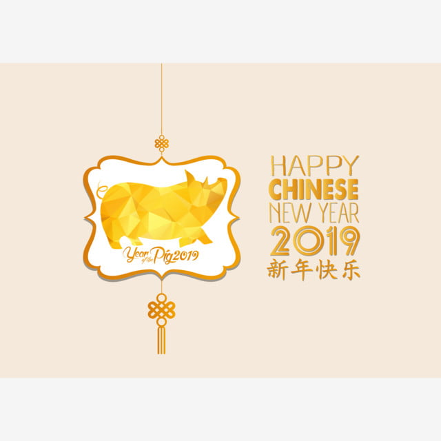 Chinese Year Of The Pig 2019 Chinese Characters Mean Happy New Year