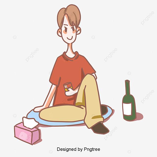 韓国焼酎手絵イラストを飲む 韓国風 イラスト イラスト画像とpsd素材