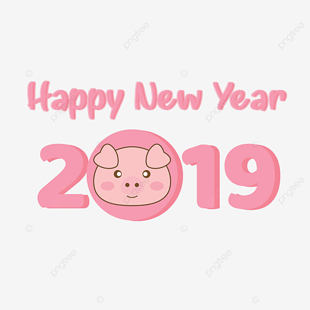 Cute Pink Pig New Year 2019 Pig New Year 2019 Pig New Png And Psd