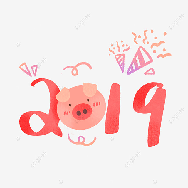 Hand Drawing 2019 Chinese Year Of Pig Cute Hand Drawing 2019 Png