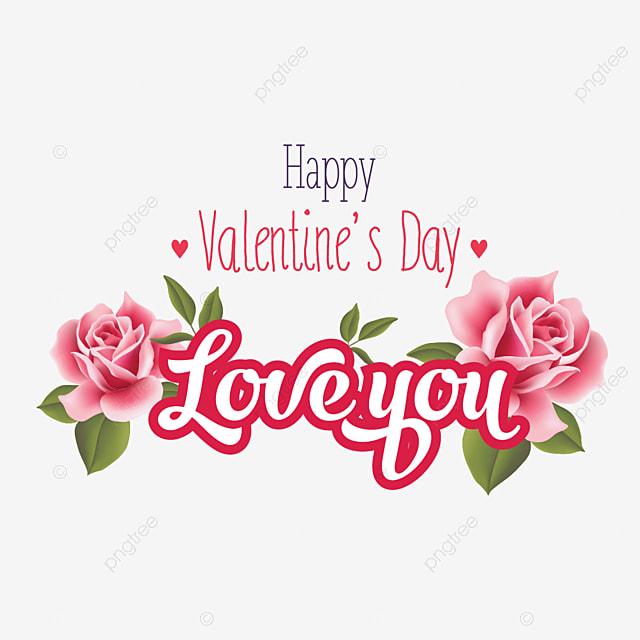 Happy Valentine Day Pink Rose Wishes Day Valentines Valentine Png