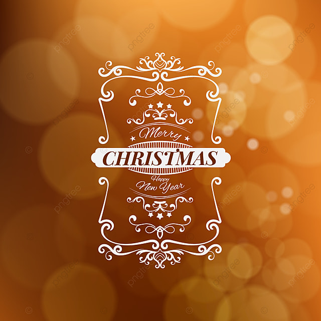 merry christmas and happy new year vector illustration isolated on blurred background background banner