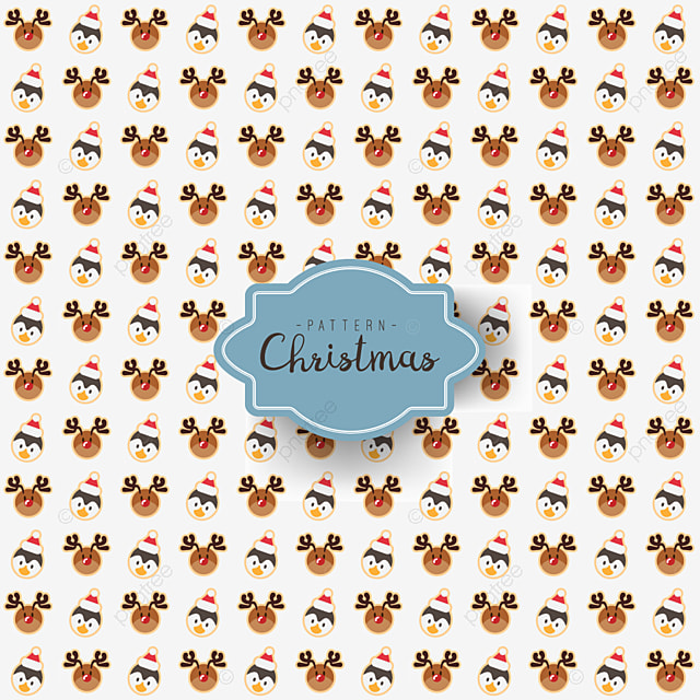 Seamless Pattern Of Merry Christmas Festival Design With Santa ...