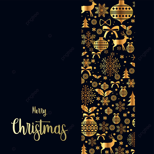 Conception De Noel Golden Carte D Invitation Noel Une Carte De Noel