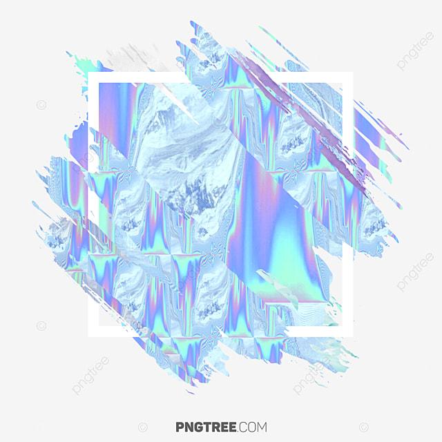 la fronti u00e8re abstraite hologramme couleur pastel section