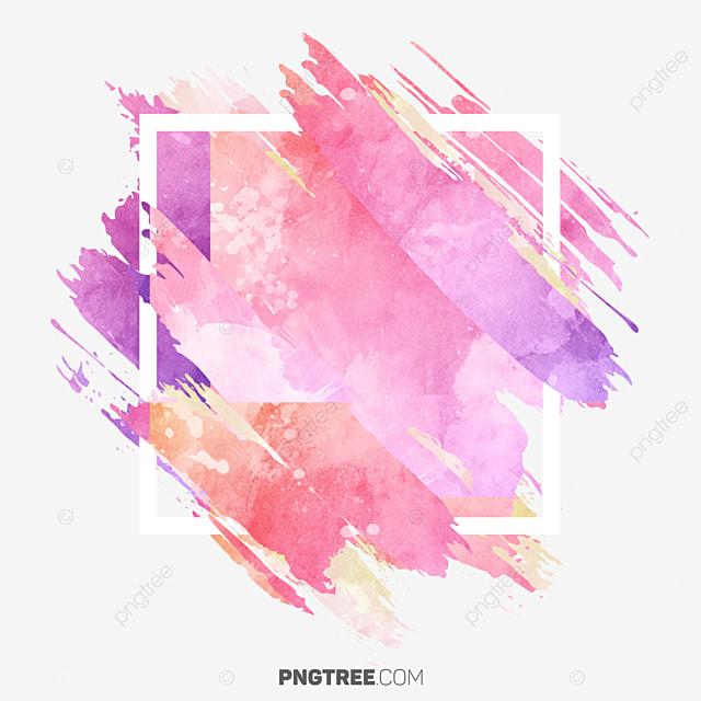 watercolor frame pastel border  frame  pastel  square png