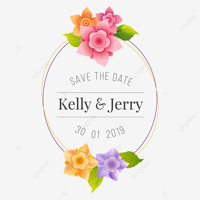 les fleurs invitation mod u00e8le mariage les fleurs png et