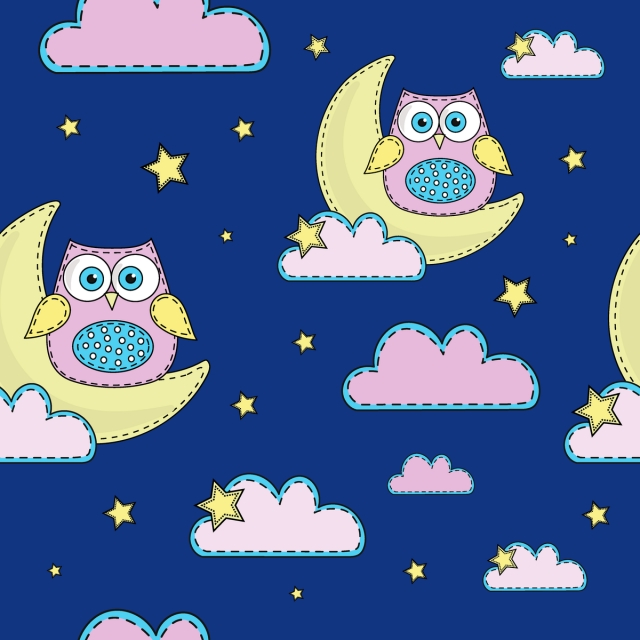 Nachtschwarmer Nahtlose Muster Farbe Vector Illustration Papier