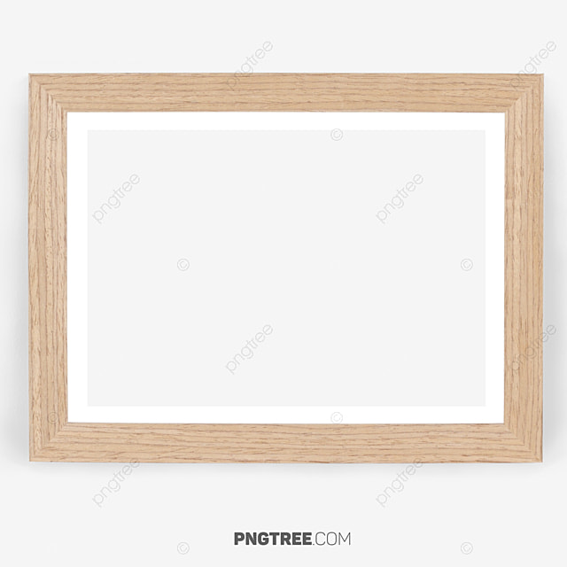 Wood Square Frame Easy To Use, Wood Square Frame, White, Square PNG ...
