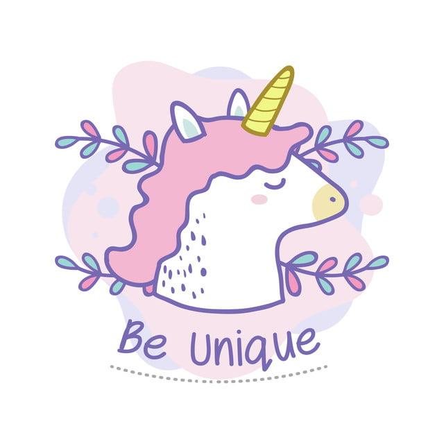 unique citation de jolie licorne doodle croire