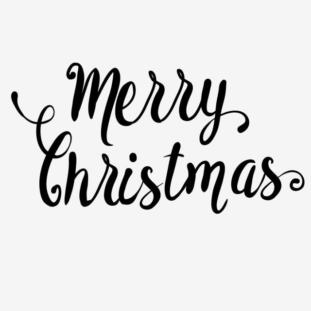 Christmas Text Black Png Black Text Png And Vector For Free Download