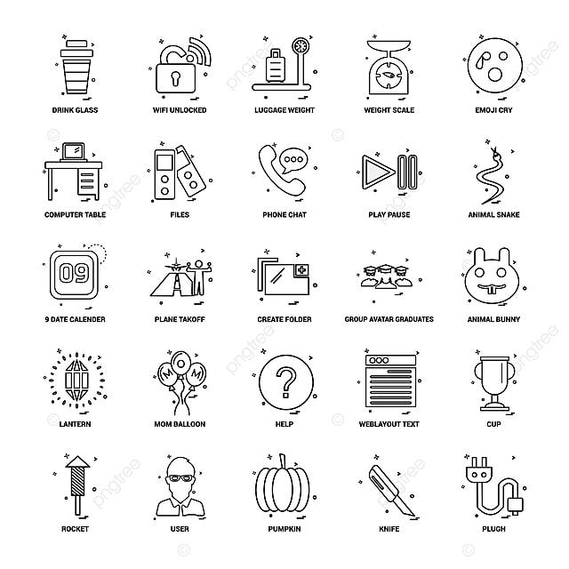 25 Concepto De Negocio Mix Linea Icon Set 9 Fecha Calendario