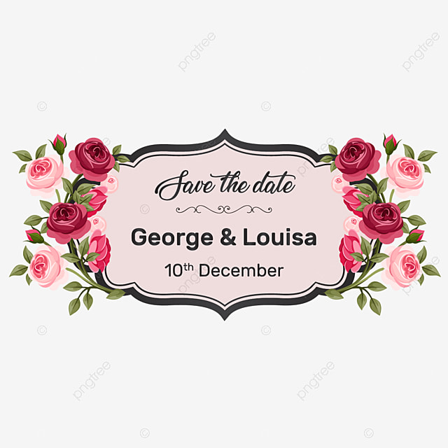 Save The Date Wedding Floral Ornament Wedding Floral: Decorative Wedding Invitation Save The Date Vintage Floral