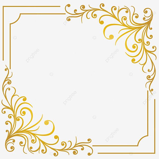 golden floral luxury frame  floral  decor  banner png
