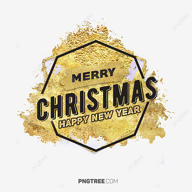 Luxury Merry Christmas Gold Banner, Christmas, Eve, Happy PNG and ...