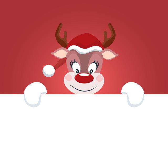 Tarjeta De Navidad Con Renos De Fondo Blanco Para Escribir Reno