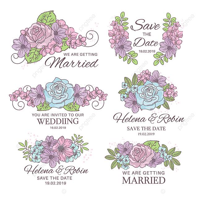 WEDDING DECORATOR Wedding Vector Illustration Set For Print