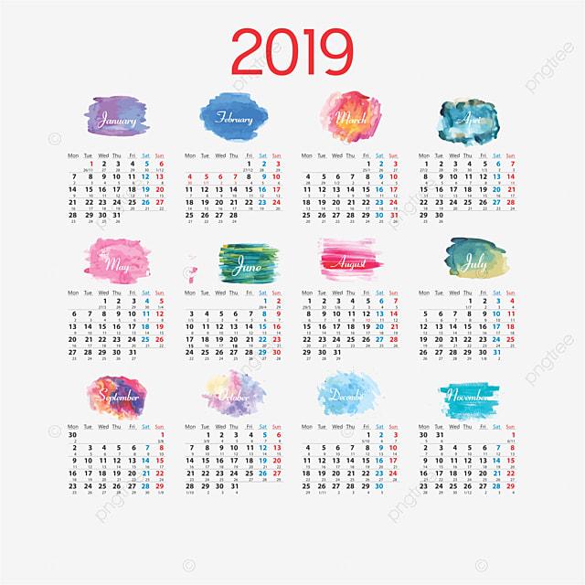 Calendario 2019 Calendario 2019 Calendario PNG Y Vector