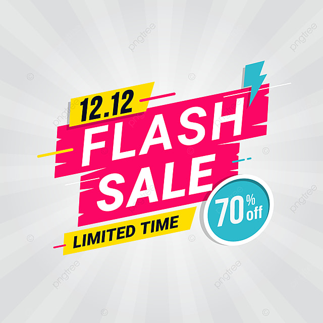 Flash Banner Template Special Offer With Thunder Png And