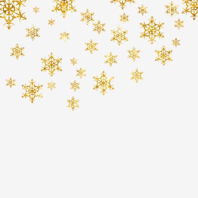 Copos De Nieve De Navidad De Oro Png Navidad Antecedentes Archivo ...