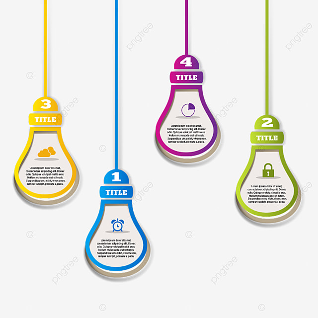 Hanging Infographic Paper Light Bulb, Infographic