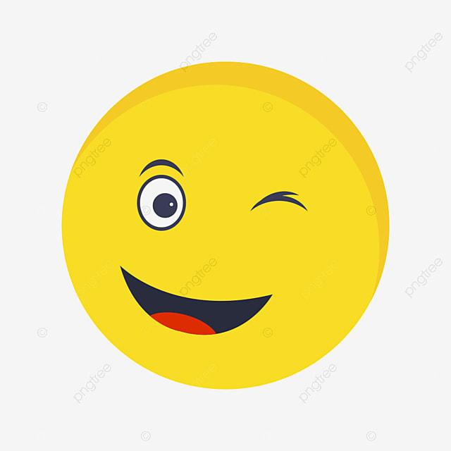 Wink Emoji Vector Icon  Wink  Emoji  Emoticon Png And
