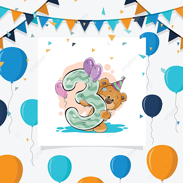 3rd Birthday Birthday Party Happy Png And Vector With