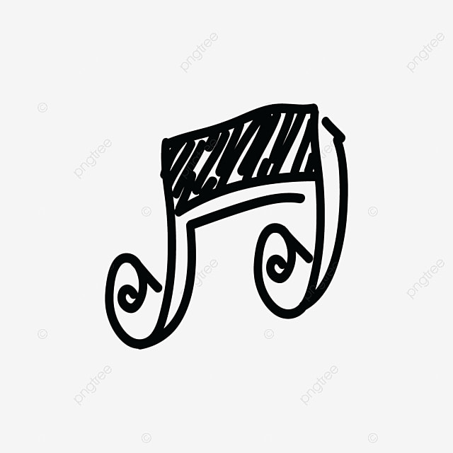 note music logo icon hand drawing  treble  play  freehand