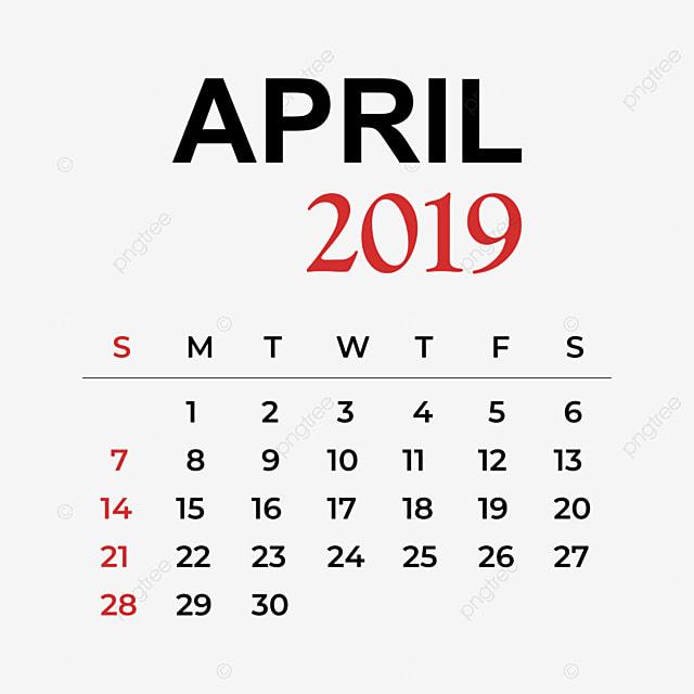 Открытка, картинка апрель 2019