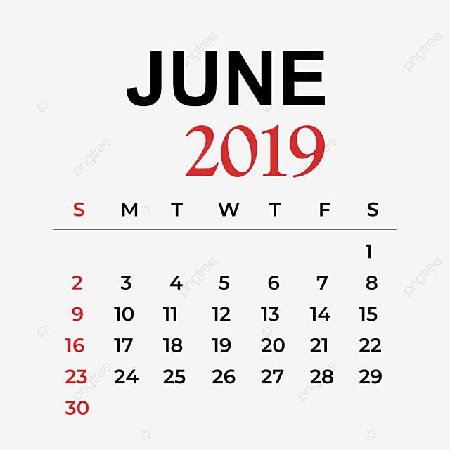 تقويم شهر يونيو 2019 يونيو Clipart جدول رموز أيقونات الشهر Png والمتجهات للتحميل مجانا