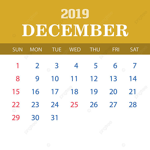 Calendario Diciembre.Plantilla Calendario Diciembre 2019 2019 2020 Anual Png Y