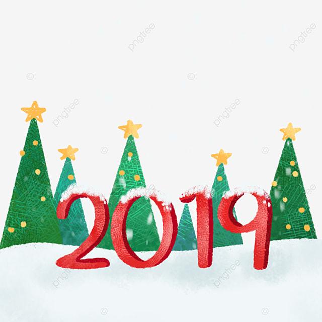 2019 Christmas Themes Hand Drawn Cute 2019 Christmas Theme, Cute, Hand Drawn, 2019 PNG